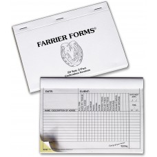 Farrier Invoice Book
